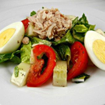 ПП салат с тунцом - 6 рецептов с фото: низкокалорийный диетический ... | 340x340